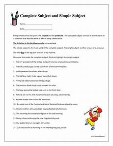 complete subject and simple subject worksheet by happyedugator teaching resources tes
