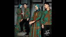 Gamis Batik Kombinasi Kain Polos Model Pesta Sarimbit