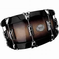 wood hoop snare taye drums studiobirch wood hoop snare drum 14x6 to black burst finish ebay