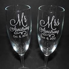 Wedding Glass Engraving Ideas personalized wedding toasting glasses custom engraved