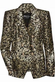 balmain metallic breasted brocade jacket brocade designer clothes sale discount