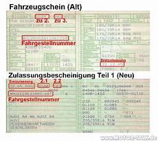Zulassungsbescheinigung Teil 1 Ps - kfz fahrzeugschein 2 typ und baujahr stimmen nicht