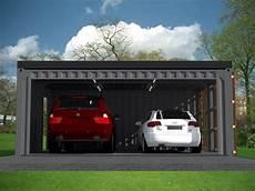 garage carport 2 voitures en containers