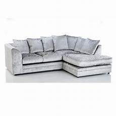 Sofa Samt Grau - michigan crushed velvet 4 seater sofa silver grey