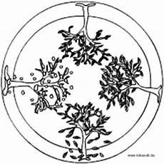 Malvorlage Jahreszeiten Mandala Pflanzen Mandalas Im Kidsweb De
