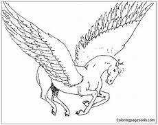 unicorn flying coloring page free coloring pages