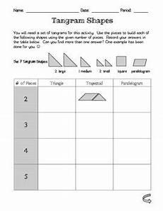 geometry worksheets grade 1 pdf 962 tangram shapes by pre algebra made easy teachers pay teachers