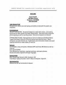 free volunteer resume templates resume work basic