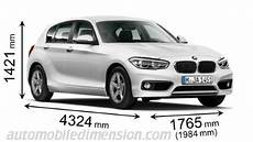 dimension serie 1 dimensions of bmw cars showing length width and height