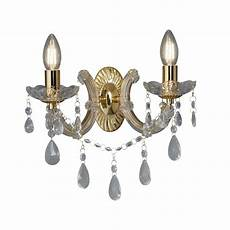 marie therese 2 light wall bracket polished brass