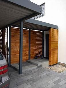Design Metall Carport Mit Vordach Aus Holz Stahl