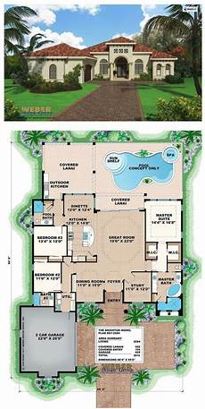 mediterranean house plans with pool mediterranean house plan small home floor plan with