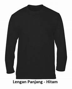 Jual Kapoci Kaos Polos Lengan Panjang Warna Hitam Cotton
