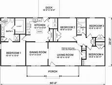 ranch style house plan 45467 ranch style house plan 45467 with 1680 sq ft 4 bed 2 bath