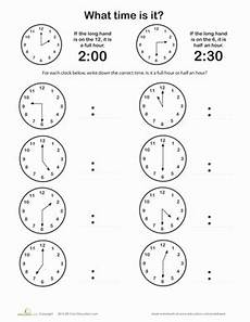 telling time by the hour worksheets for kindergarten 3602 telling time on the hour or half hour worksheet education