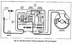 double contact voltage regulator wiring diagram for the 1958 chevrolet passenger car truck and