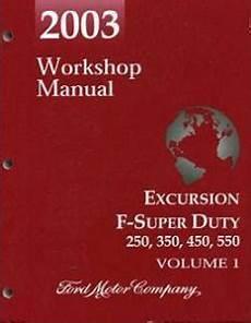 auto repair manual free download 2003 ford excursion auto manual 2003 ford excursion f250 f350 f450 f550 f super duty factory workshop manual 2 volume set