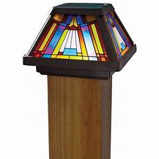 moonrays inglenook solar multi color outdoor integrated led cap deck light 91241 the home