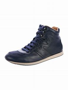 salvatore ferragamo leather high top sneakers shoes
