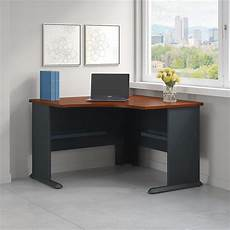 home office furniture corner desk series a 48w corner desk in hansen cherry and galaxy