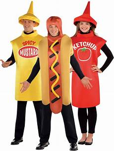 Adults American Food Costume Sauce Fancy Dress