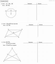 geometry proofs worksheets two column 921 geometry proving exercises with answers vector geometry solutions exles proving