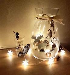 dekorieren mit lichterketten diy weihnachten deko gro 223 es glas dekorieren mit