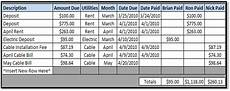 Apartment Living Expenses by Excel Spreadsheets Help Shared Apartment Expenses Spreadsheet
