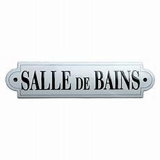 Plaque Salle De Bain Bathroom Enamel Door Sign Plaque La Salle De Bain