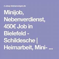 nebenjobs bielefeld minijob nebenverdienst 450 job in bielefeld