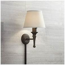 braidy bronze plug in wall sconce with cord cover 17t78