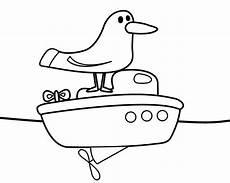 schule und familie malvorlagen text kostenlose malvorlage v 246 gel m 246 we steht auf einem boot zum