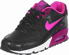 nike air max 90 youth gs shoes black pink