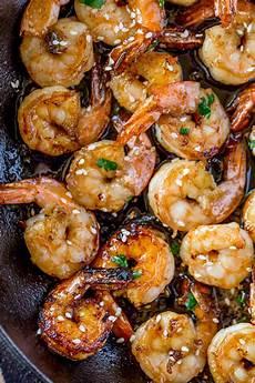 easy honey garlic shrimp dinner then dessert
