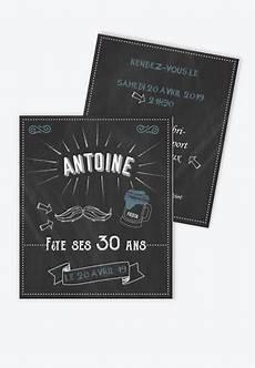 Carte Invitation Anniversaire Homme Originale Tendance T