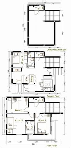 sketchup house plan sketchup home plan 7 5x9m with 4 bedroom home design idea