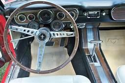 1965 Rangoon Red Mustang Convertible V8 Pony Interior