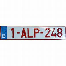 plaque d immatriculation aluminium belge la pour tous