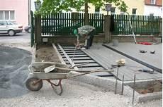 Wpc Holzterrasse Bauanleitung 03 Unterbau Einer Wpc