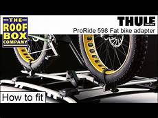 thule proride 598 thule proride 598 bike adapter tu5981 how to fit