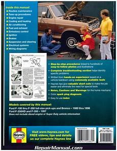 car repair manuals download 2009 ford f350 free book repair manuals ford pickup trucks bronco 2wd 4wd 1980 1997 haynes auto repair manual