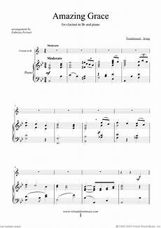 amazing grace sheet music for clarinet and piano pdf