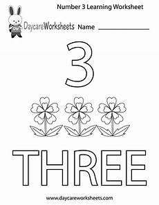 three letter worksheets for kindergarten 23540 free preschool number three learning worksheet