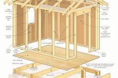 construction d une remise en bois construire abri de jardin en bois plan abri de