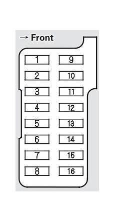 2004 Acura Cl Fuse Box Diagram by Acura Cl 2003 Fuse Box Diagram Auto Genius