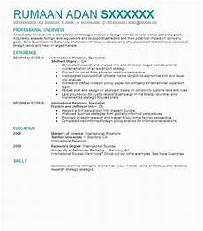 international relations specialist resume sle livecareer