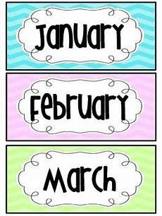 cards worksheets 20312 freebie months of the year chevron title cards months in a year classroom calendar month