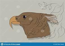 illustration de vecteur d un portrait d un aigle couleur