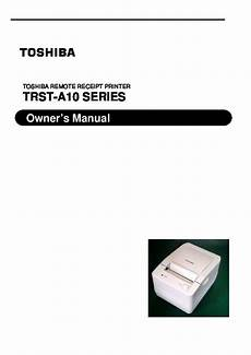 toshiba trst a10 series remote receipt printer owners manual