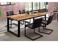 table salle a manger style industriel table de salle 224 manger en bois massif structure en m 233 tal